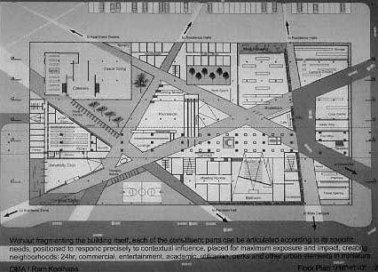 rem koolhaas, IIT Student Center Floor Plan