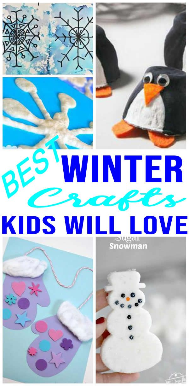 Easy Kids Winter Crafts Diy Winter Craft Ideas Creative For