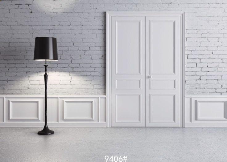 5x7ft (1.5×2.2m) witte deur afgedrukt fotostudio pasgeboren fotografie achtergrond achtergrond vloerlamp Fond studio foto vinyle