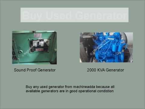 Used generator buy and sell here. Machineadda is an online store deals in used machines and industrial equipments.