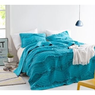 Shop for BYB Relaxin' Single Tone Peacock Chevron Ruffles Quilt Set. Get free shipping at Overstock.com - Your Online Fashion Bedding Outlet Store! Get 5% in rewards with Club O! - 21507489
