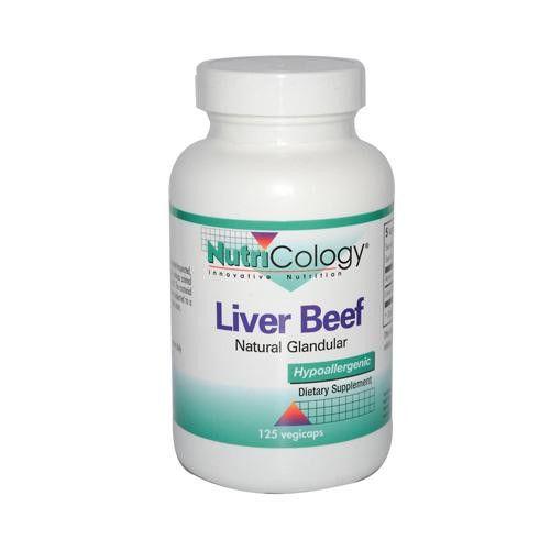 Nutricology Liver Organic Glandular - 125 Vegetarian Capsules