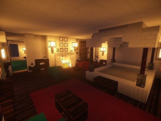 1000 ideas about minecraft furniture on pinterest for Amazing mansions inside