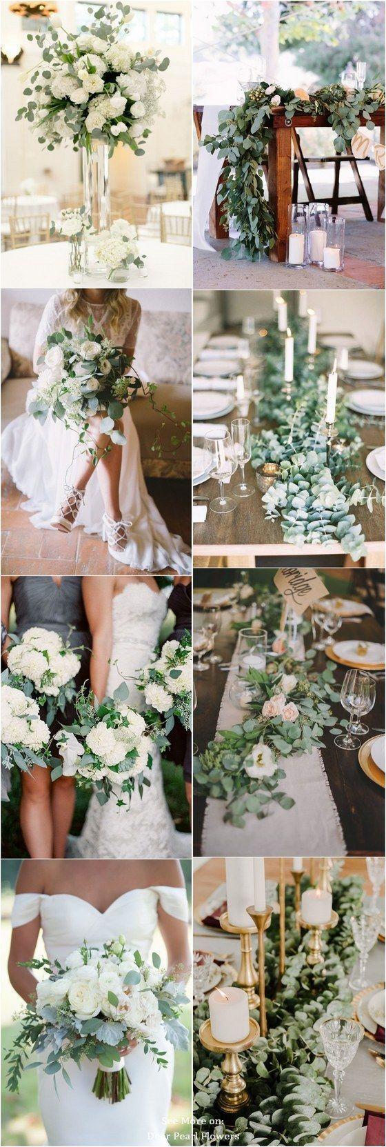 Eukalyptusgrün Hochzeitsfarbe Ideen / www.deerpea…