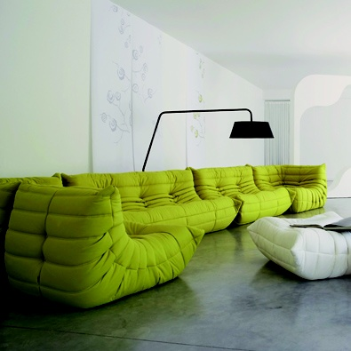 Ligne Roset's Togo sofa. Ahh... to sit on greatness! This is my dream sofa!
