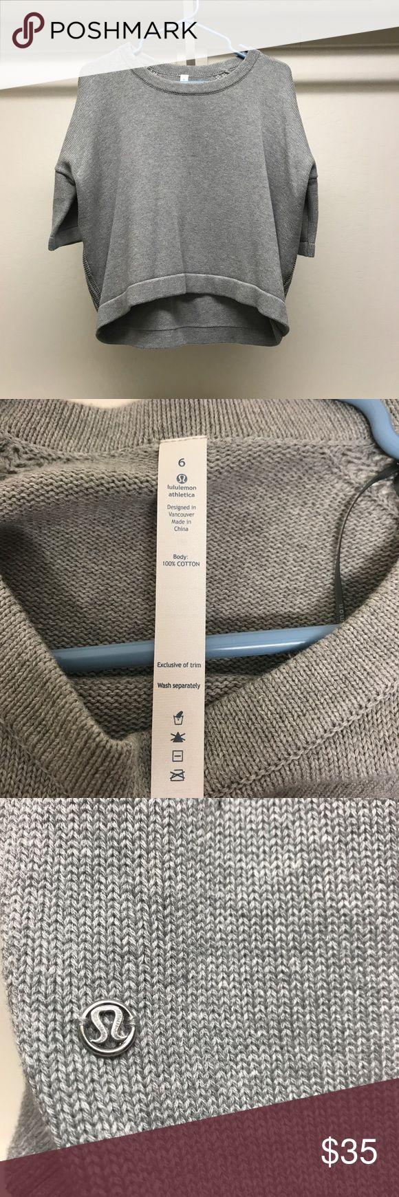 Selling this Lululemon Women's Grey Short Sleeved Top Size 6 on Poshmark! My username is: vjethier. #shopmycloset #poshmark #fashion #shopping #style #forsale #lululemon athletica #Tops
