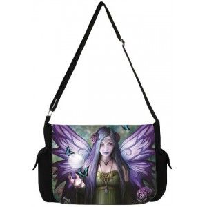 Mystic Aura Fairy Messenger Bag by Anne Stokes - New at GothicPlus.com - your source for gothic clothing jewelry shoes boots and home decor.  #gothic #fashion #steampunk