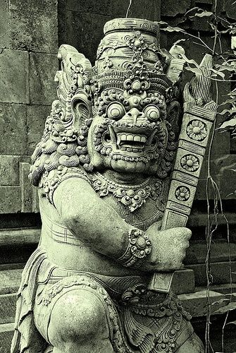 Balinese stone carving.