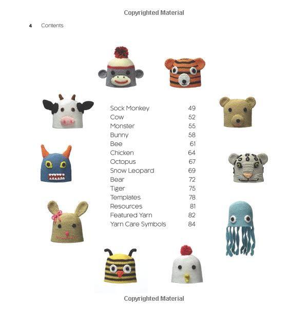 Amigurumi Animal Hats: 20 Crocheted Animal Hat Patterns for Babies and Children: Linda Wright: 9780980092370: Amazon.com: Books