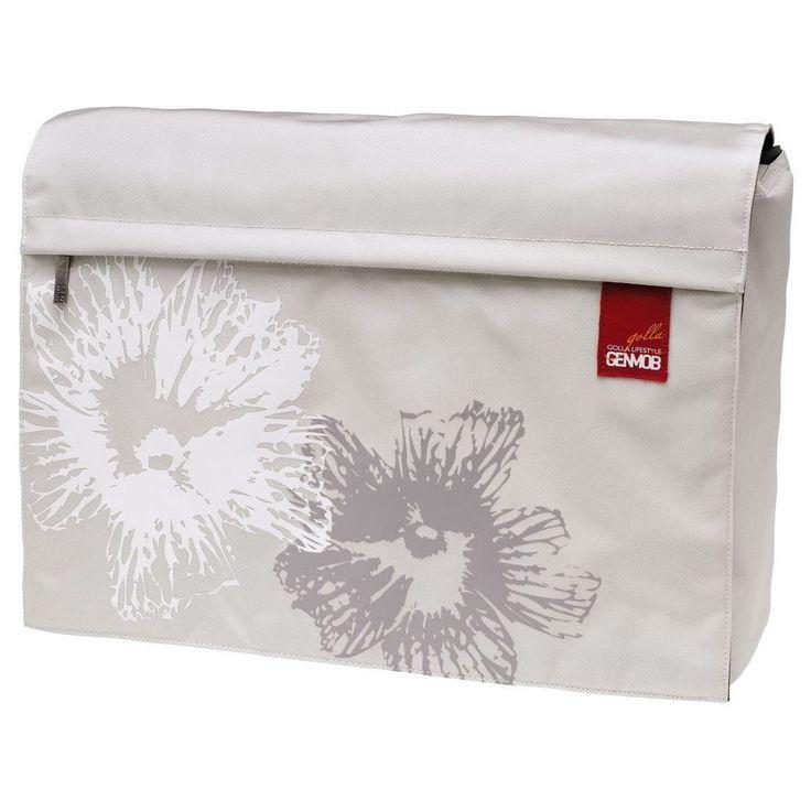 "Golla Lifestyle GenMob Limon White Cream Ivory Floral 16"" Laptop Messenger Bag #Golla #LaptopCase"
