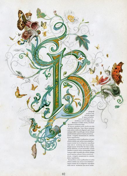 726 best images about illuminated letters on pinterest