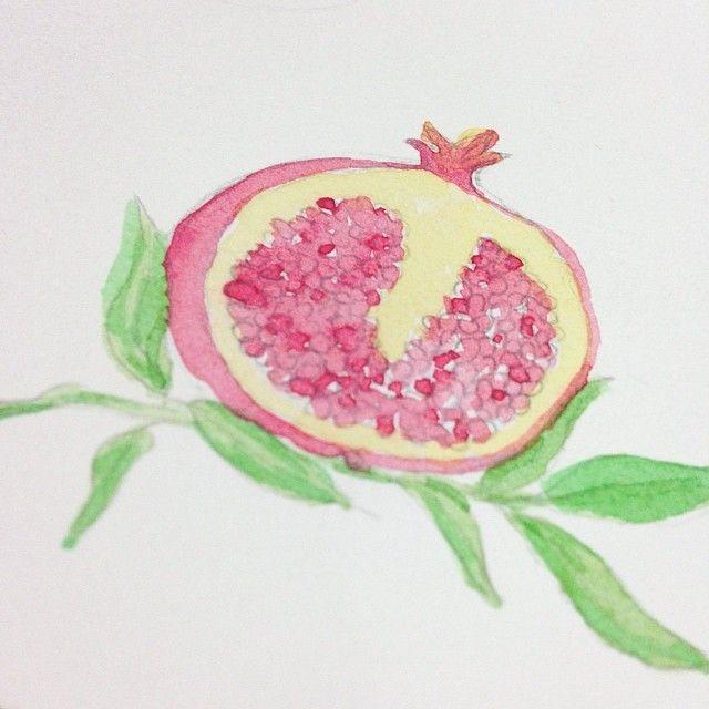 www.behance.net/luchosalazar Pomegranate Watercolor