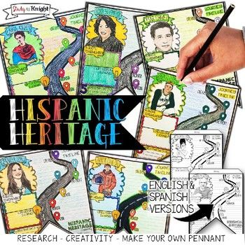 HISPANIC HERITAGE MONTH, BIOGRAPHY RESEARCH, PENNANT, IN E
