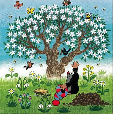 Der kleine Maulwurf. Tschechische Zeichentrickserie für Kinder mit einem wundervollen Stil.