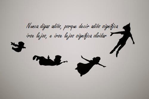 """""""Nunca digas adiós porque decir adiós significa irse lejos e irse lejos significa olvidar""""."""