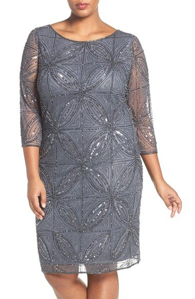 Free shipping and returns on Pisarro Nights Embellished Sheath Dress (Plus Size) at Nordstrom.com. Intricately embellished with glittering geometry, a sheer-sleeve cocktail dress makes a sophisticated choice for party season.