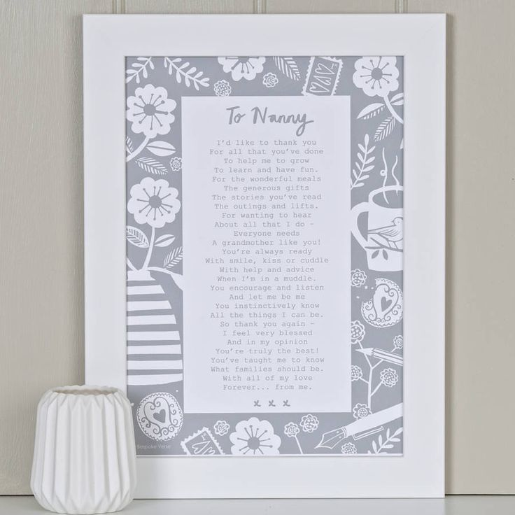 'A Letter To Grandmother' Poem Grey                                                                                                                                                      More