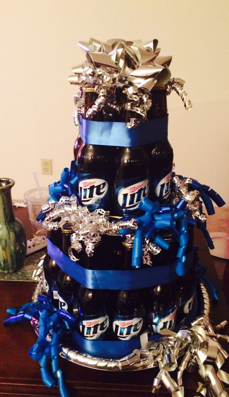 Beer bottle cake I made for my husband's 30th birthday