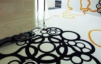 Kantoor met unieke vloer en wanden