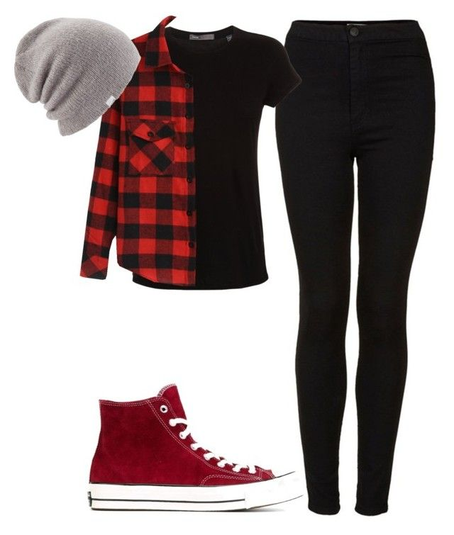 Untitled #129 by mon-holopainen on Polyvore featuring moda, Vince, Topshop, Converse and Coal