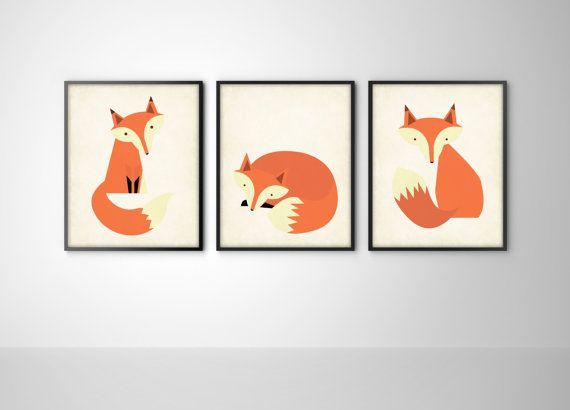 fox print bysamantha etsy