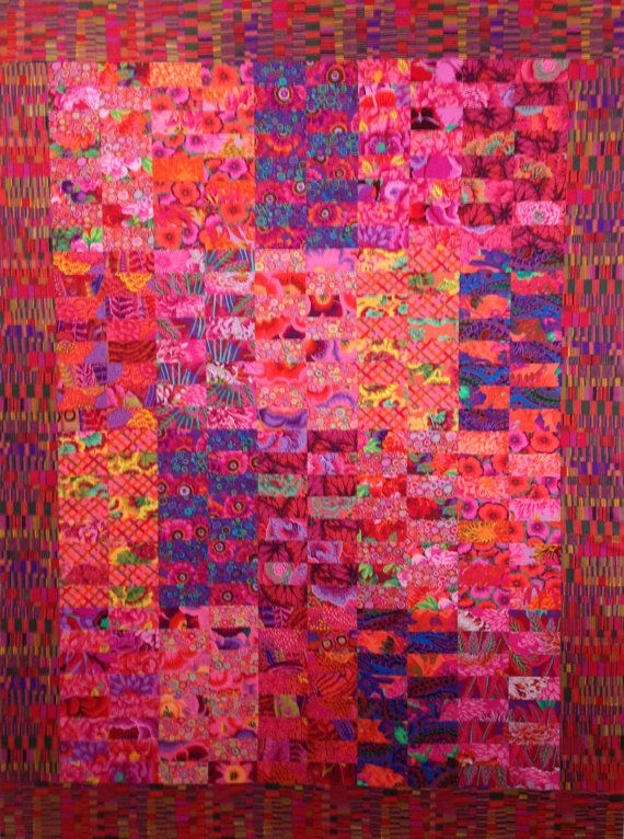 Duet quilt in Kaffe Fassett & Philip Jacobs fabrics by Sew Colorful Quilts (sold)