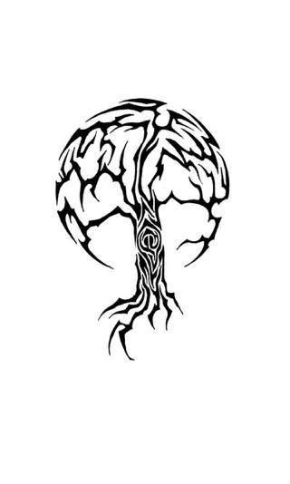 Tribal Tree   Tattoo Flash   Pinterest   Trees