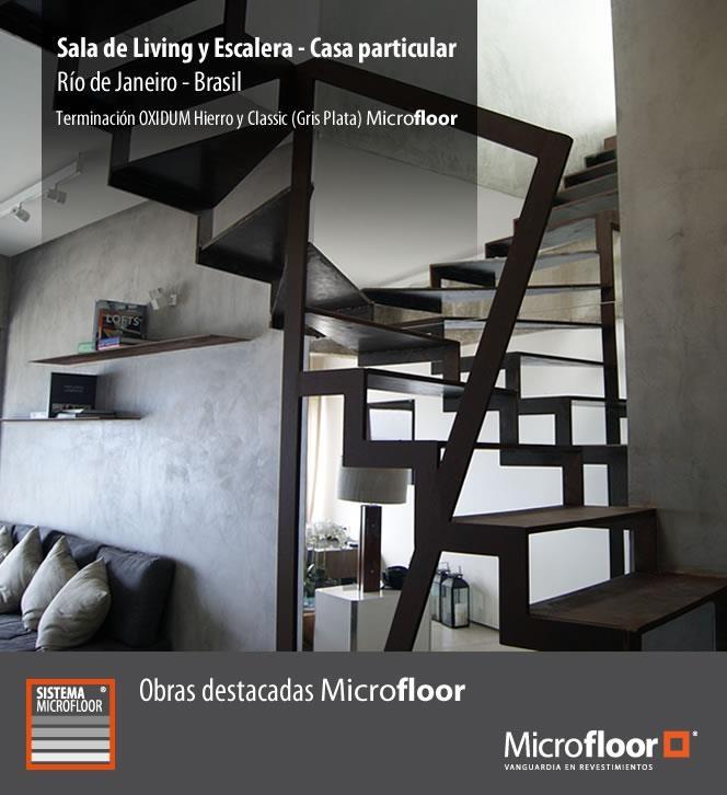 Living Brasil - Muros revestimientos en microcemento Microfloor Línea Classic