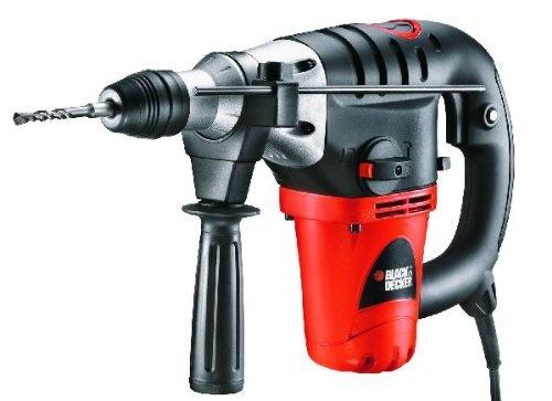 Black und Decker KD1001K-QS Bohrhammer SDS-Plus 1000 Watt mit Meissel-, Bohrfunktion im Koffer + 2 Meißel und 5 SDS-Plus Bohrer   Elektro & Handwerkzeuge