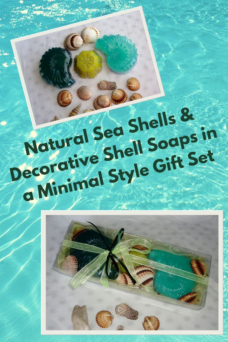 Natural Greek Sea Shells found on the beaches of Paros island (Aegean Sea) in a Lime Color very nice decorated Handmade Gift Set with three Decorative Scented Luxury Soaps. Sea shells and natural handmade glycerin soaps for Greek summer and Greek Beach memories.
