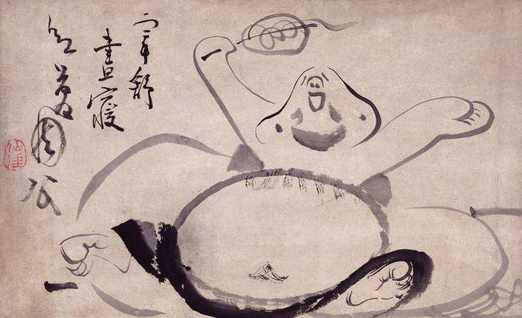 Sengai Gibon - Hotei waking from a nap (Edo Period)