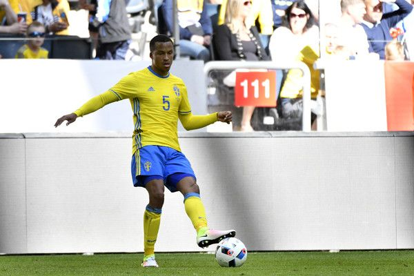 Martin Olsson of Sweden during the international friendly between Sweden and Wales at Friends Arena on June 5, 2016 in Solna, Sweden.
