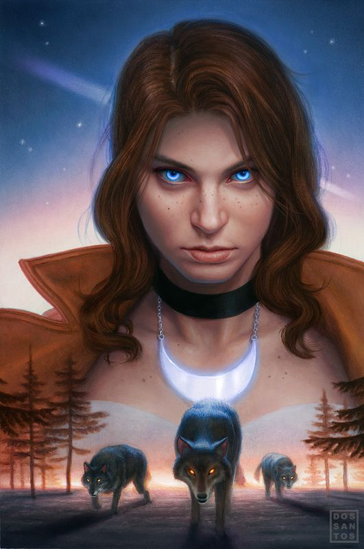 Cover of the graphic novel adaptation of 'Alpha & Omega', by Patricia Briggs. Art by Dan Dos Santos