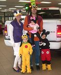 Mickey Mouse Crew Family Costume - 2013 Halloween Costume Contest