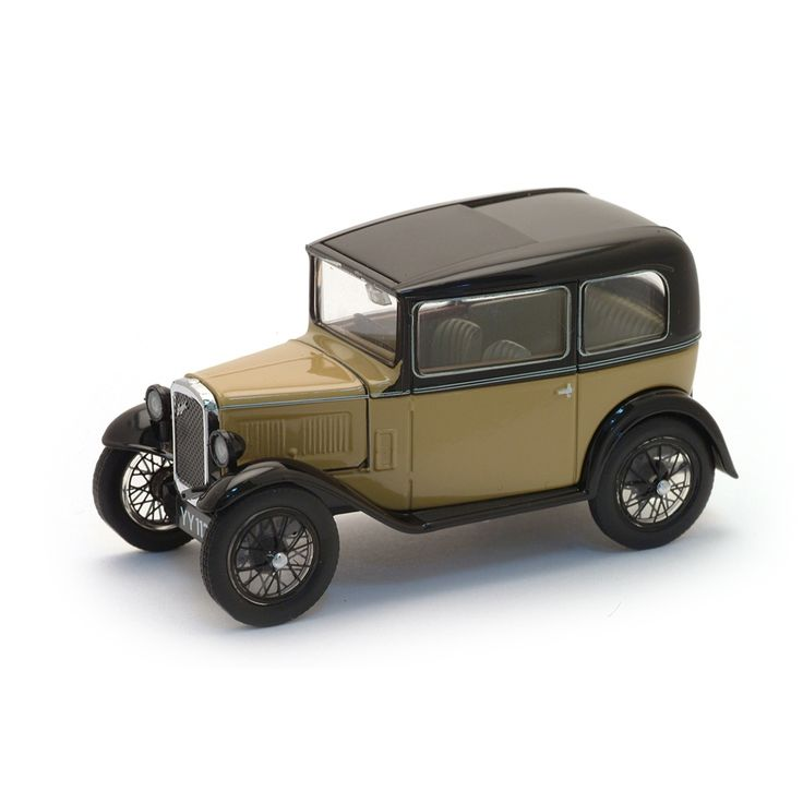 Die-Cast Replica Austin Seven. With authentic detailing and a colour scheme appropriate to the period, this is a 1:43 scale die-cast replica of a car nicknamed the 'Baby Austin', one of the most popular ever produced for the British market.
