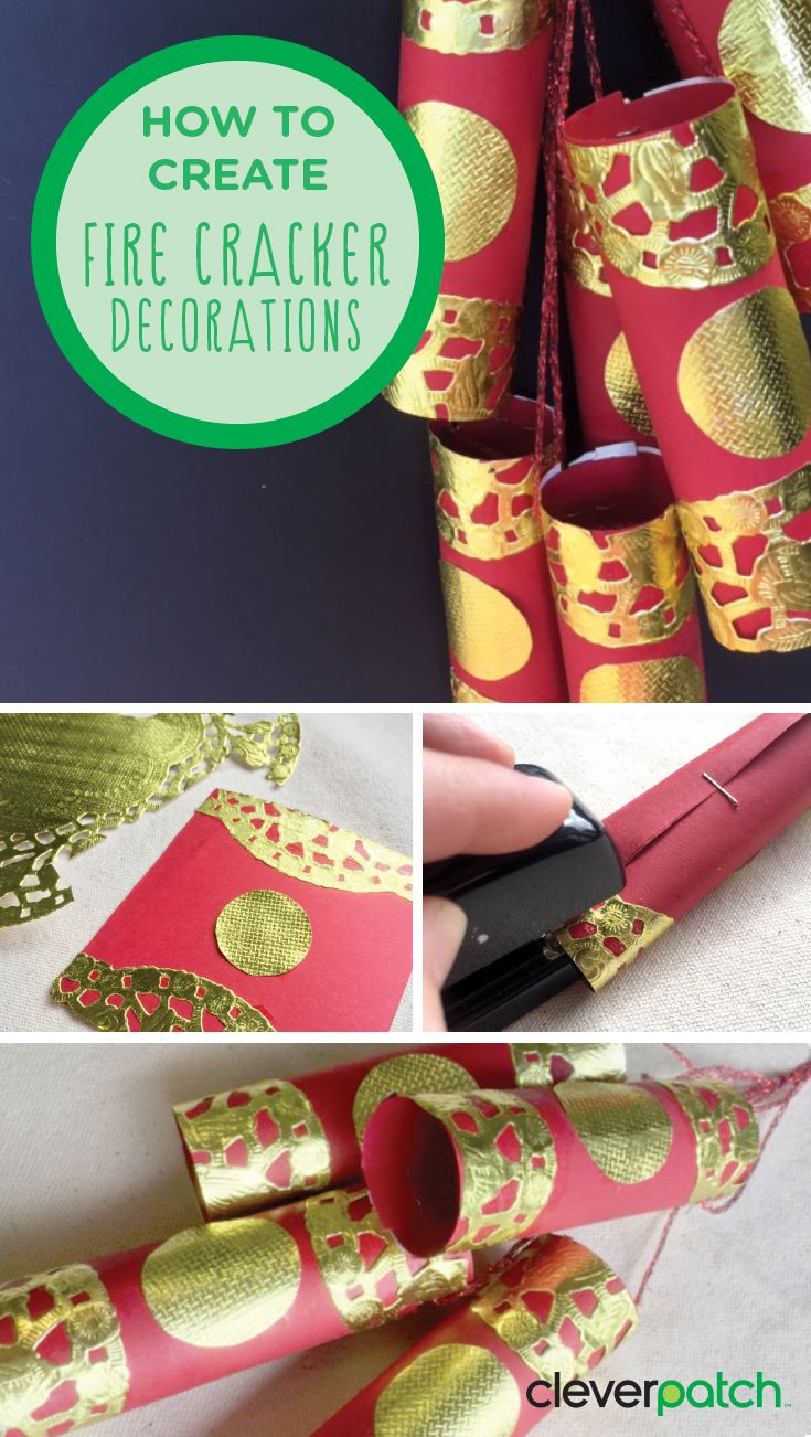 Chinese New Year Fire Crackers craft - Use these simple materials to create your very own fire cracker decorations and get festive for Chinese New Year!