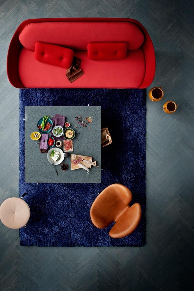 Favn Designer Selection 3-sitssoffa from Fritz Hansen #sofa #red #valentines #heart