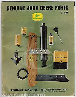 JOHN DEERE TRACTOR & FARMING EQUIPMENT VINTAGE GRAPHIC ADVERTISING PARTS CATALOG