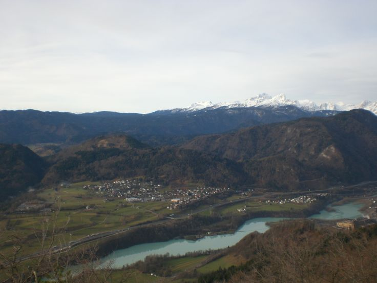 Looking along the Upper Sava Valley and across towards the Julian Alps