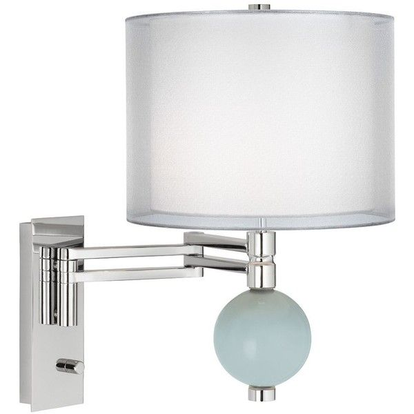 color plus rain double sheer silver shade niko swing arm wall lamp 170