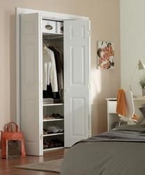 6 Panel Grained Bi-Fold | Internal Moulded Panel Doors | Doors & Joinery | Howdens Joinery