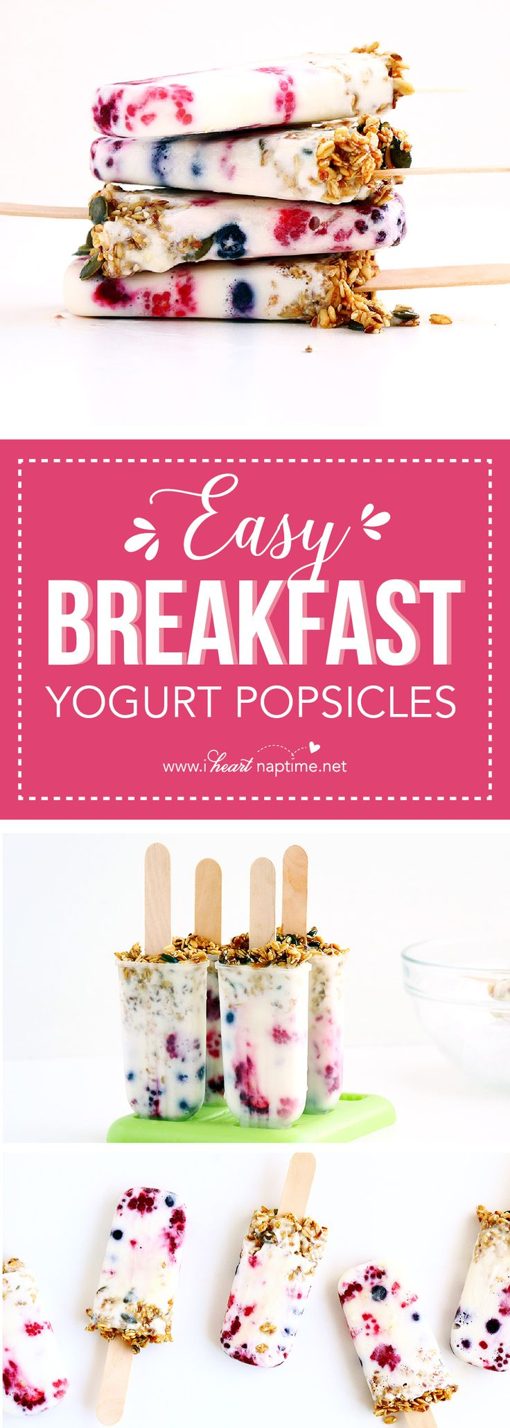 asy Breakfast Yogurt Popsicles - A delicious, healthy breakfast that is quick…