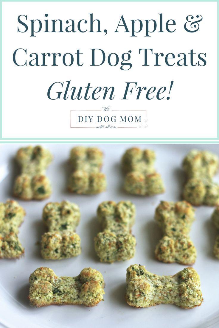 Spinach, Apple & Carrot Homemade Dog Treats   The DIY Dog Mom   Dog Mom Blog