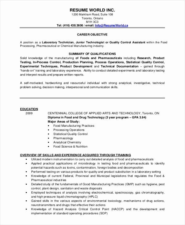 Quality Control Job Description Resume Inspirational Microbiologist Resume Template 5 Free Word Pdf Document Downloads Resume Examples Sample Resume Resume
