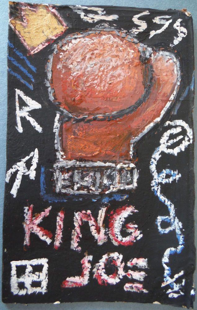 Guaranteed Jean-Michel Basquiat NYC authentic 1980 Street Art crowned Joe Louis #NeoExpressionism