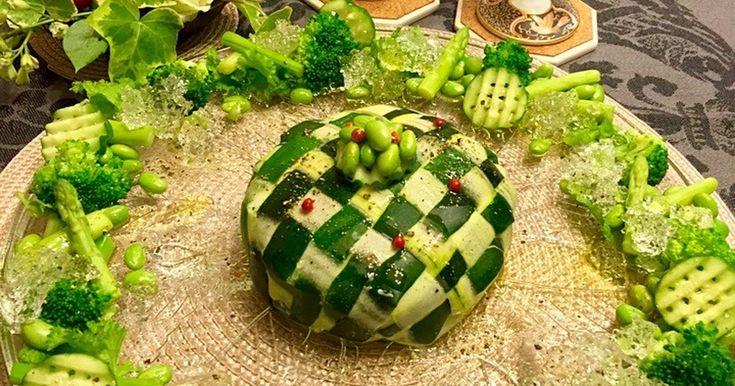 ズッキーニの編み込みでポテトサラダ爆弾♬ by hirokyon2 [クックパッド] 簡単おいしいみんなのレシピが245万品
