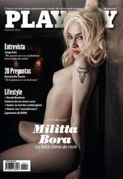 La copertina di Playboy con Militta Bora