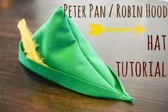 How to Make a Peter Pan or Robin Hood Hat   TikkiDo.com