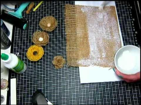Eccomi con un tutorial facile facile , dei simpatici fiorellini con la yuta , utili per abbellire diversi progetti , borse, cerchietti , pinze per capelli , ...