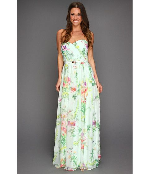 Ted baker serlant wallpaper floral print maxi dress mint for Print maxi dress for wedding
